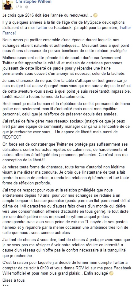 Long texte sur Facebook