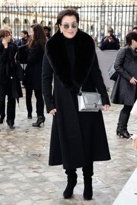 Kris Jenner avait elle opté pour un look 100% noir.