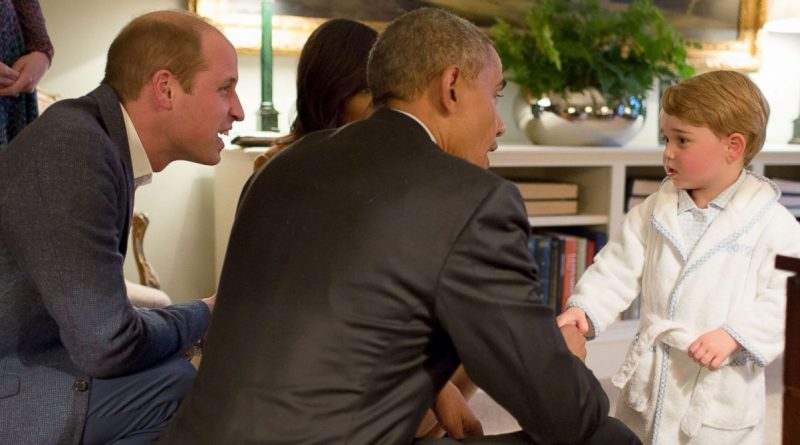 Le fils de Kate et William craquant avec le couple Obama